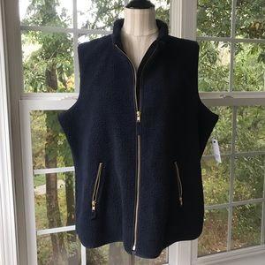 Crown & Ivy plush fleece vest